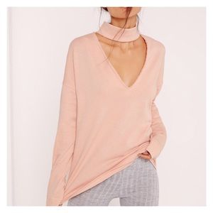13f6dbef03 Missguided Choker Neck sweatshirt